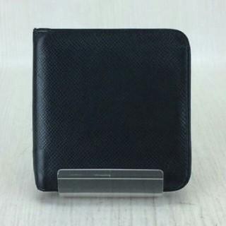 ルイヴィトン(LOUIS VUITTON)のルイヴィトン 折り財布ポルトビエモネジップ タイガ ファスナー黒ブラック革レザー(財布)