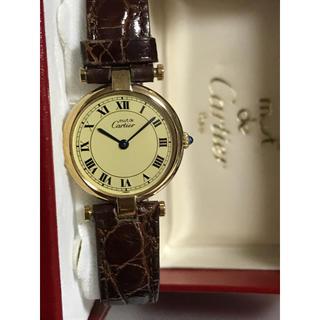 カルティエ(Cartier)の付属箱有 カルティエ マストヴァンドーム クオーツ アイボリー(腕時計)