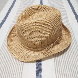 MUJI (無印良品) - 無印良品 ラフィア中折れハット 帽子
