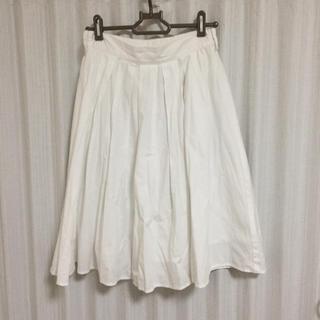 シマムラ(しまむら)のしまむら ホワイトスカート(ひざ丈スカート)