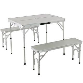 大人気★アルミ テーブル チェア セット ALPT-90 (テーブル/チェア)