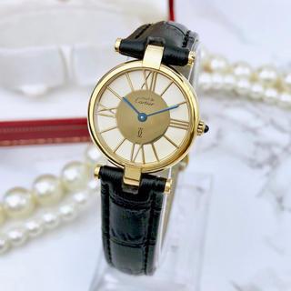 カルティエ(Cartier)の美品 希少 カルティエ ヴァンドーム ベルト2色付 ゴールド レディース 腕時計(腕時計)