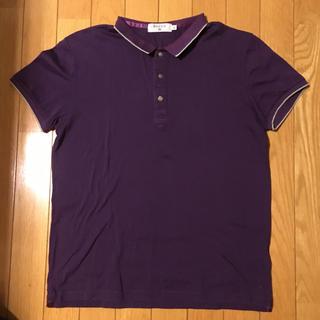 エディフィス(EDIFICE)の値下げEDIFICE紫色のポロシャツ M 美品エディフィス(ポロシャツ)