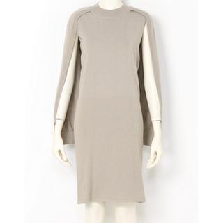 ダブルスタンダードクロージング(DOUBLE STANDARD CLOTHING)のダブルスタンダードクロージング レイヤードニットワンピース ポンチョ ケープ(ひざ丈ワンピース)