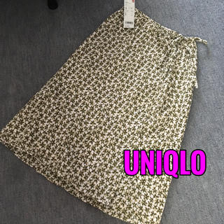ユニクロ(UNIQLO)の新品UNIQLO♡ラップ巻きスカート (ロングスカート)