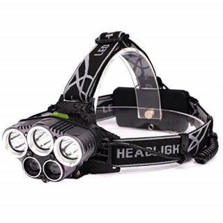 大好評☆LEDヘッドライト 4000ルーメン 5灯式 防水 充電式