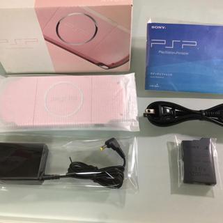 プレイステーションポータブル(PlayStation Portable)のほぼ新品 PSP-3000 ブロッサムピンク(携帯用ゲーム本体)