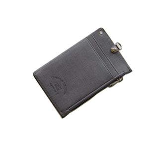 [ジヌ]JINUパスケース定期入れカードケースホルダー男女兼用ファスナー財布(パスケース/IDカードホルダー)
