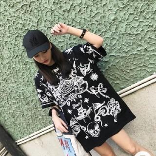 地獄 Hell柄 インスタ映え ビッグサイズTシャツ トレンド 2018♡(Tシャツ(半袖/袖なし))