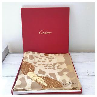 カルティエ(Cartier)のカルティエ Cartier ストール ショール スカーフ 虎 絹 未使用 正規品(バンダナ/スカーフ)