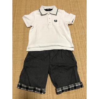 コムサイズム(COMME CA ISM)のポロシャツとズボンのセット 子ども服(Tシャツ/カットソー)
