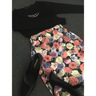 エモダ(EMODA)のEMODA スカート 花柄 ミニスカート タイトスカート エモダ(ミニスカート)