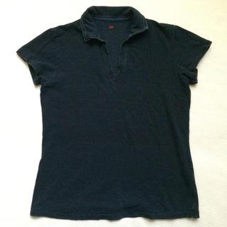 フォーティーファイブアールピーエム(45rpm)の45rpm インディゴ スキッパー ポロシャツ(ポロシャツ)