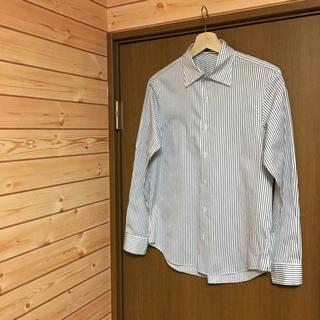 エディフィス(EDIFICE)の【 EDIFICE 】ツイルシャツ 薄手 ストライプ ホワイト×ブラック(シャツ)