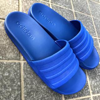 アディダス(adidas)の【美品adidas】シャワーサンダル  ブルー(サンダル)