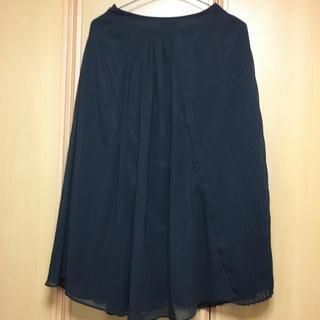 エモダ(EMODA)の3500円値下げEMODAプリーツロングスカート黒 美品(ロングスカート)