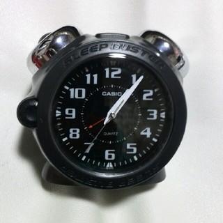 カシオ(CASIO)の目覚まし時計CASIO ブラック/箱無し!(置時計)