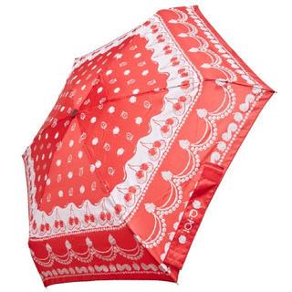 キューポット(Q-pot.)の新品Q-pot.チェリーホイップ折り畳み傘 晴雨兼用(傘)