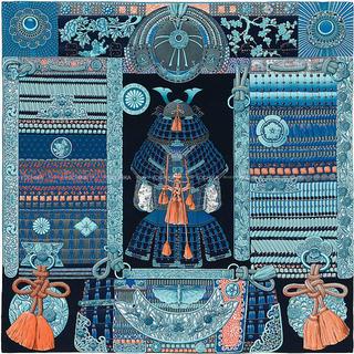 Hermes - エルメス ストール 140 侍 甲冑 鎧兜 カシミアシルク