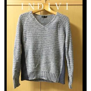インディヴィ(INDIVI)の新品INDIVIサマーニット 通勤 オフィス (ニット/セーター)