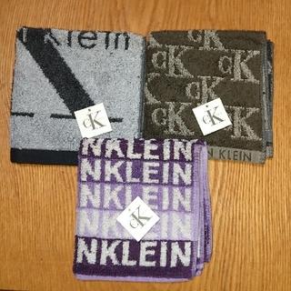 シーケーカルバンクライン(ck Calvin Klein)のCalvin Klein 新品 タオルハンカチ 3枚セット(ハンカチ/ポケットチーフ)