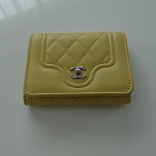 CHANEL - CHANEL黄色ミニ財布