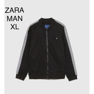 ザラ(ZARA)のZARA MAN サイドライン入り 軽量ジャケット ブラック XL(ブルゾン)