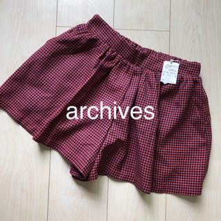 アルシーヴ(archives)のarchives ショートパンツ 新品(ショートパンツ)