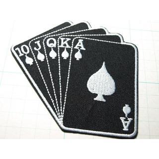 3枚1000円★ロイヤルステーレートフラッシュ★トランプ★カード★黒★(その他)