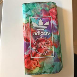 adidas iPhone 6 6s 7 8対応 手帳型ケース 中古