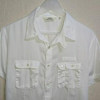 エディフィス(EDIFICE)のEDIFICE 開襟シャツ ミリタリーシャツ 白シャツ(シャツ)