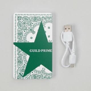 新品未使用。定価3888円。GUILD PRIMEスターバンダナ携帯充電器