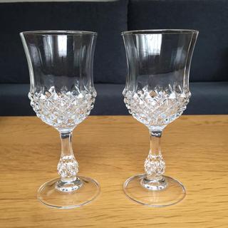 クリスタルダルク(Cristal D'Arques)のクリスタル・ダルク ペアワイングラス(グラス/カップ)