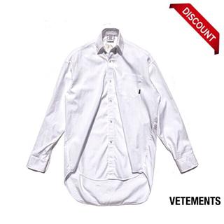L VETEMENTS Classic oversized シャツ White