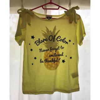 シマムラ(しまむら)のパイナップルTシャツ カットソー 160(Tシャツ/カットソー)