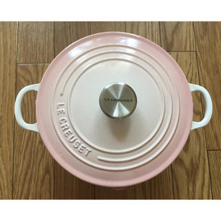 LE CREUSET - ル・クルーゼ ココットロンド パウダーピンク 22