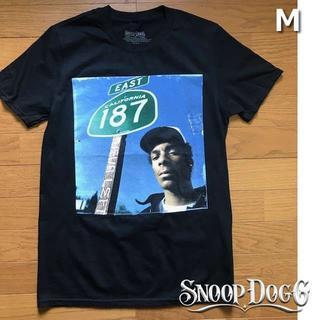 スヌープドッグ(Snoop Dogg)のレア!スヌープ・ドッグ プリント Tシャツ【M】黒 新品 180718(Tシャツ/カットソー(半袖/袖なし))