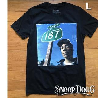 スヌープドッグ(Snoop Dogg)のレア!スヌープ・ドッグ プリント Tシャツ【L】黒 新品 180718(Tシャツ/カットソー(半袖/袖なし))