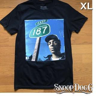 スヌープドッグ(Snoop Dogg)のレア!スヌープ・ドッグ プリント Tシャツ【XL】黒 新品 180718(Tシャツ/カットソー(半袖/袖なし))