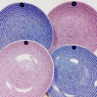 アラビア(ARABIA)の新品 アラビア Avec パープル&ブルー プレート20cm 数量変更可(食器)