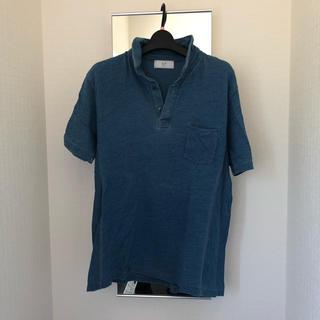 エディフィス(EDIFICE)の【美品】EDIFICE417 インディゴポロシャツ(ポロシャツ)