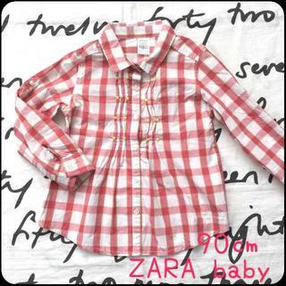 ザラキッズ(ZARA KIDS)の【SALE★ザラ★94★チェック★シャツ★ロールアップ】(Tシャツ/カットソー)
