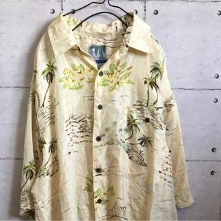 【最終価格】シルク100% オーバーサイズ アロハシャツ