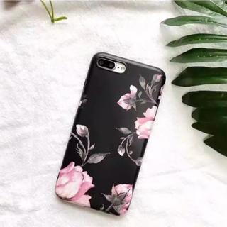 iPhone7 / 8 plus ケース バラ 薔薇 花柄 上品 ソフトケース
