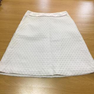 セブンアイディコンセプト(7-Idconcept)の7-IDconcept スカート ホワイト(ひざ丈スカート)