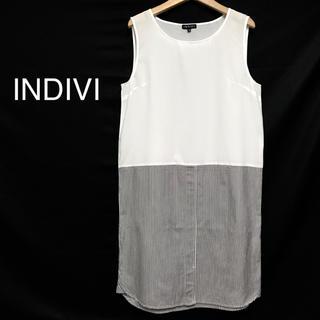 インディヴィ(INDIVI)のインディヴィ/ワンピース  美品(ひざ丈ワンピース)