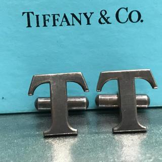 ティファニー(Tiffany & Co.)のティファニー Tロゴ カフス カフリンクス 燻加工(カフリンクス)