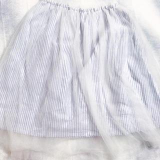 シマムラ(しまむら)のしまむら ストライプチュールスカート(ひざ丈スカート)