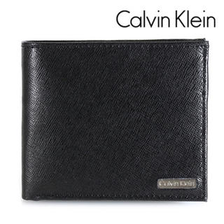 カルバンクライン(Calvin Klein)の新品 カルバンクライン 二つ折り財布 メンズ サフィアーノレザー 79393(折り財布)