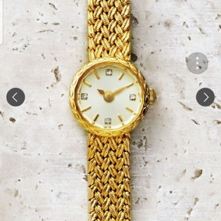 アガット(agete)のagate ダイヤ入腕時計 (腕時計)